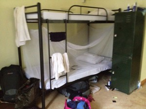 Our bunks. Pat on top : Peg below