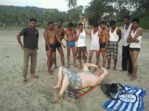 A Barnsley lad causes a stir in Goa