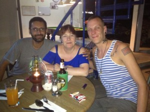 With Swiss Cousin Eddy back on Koh Tao