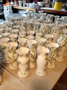 Charlotte's beautiful wedding vases